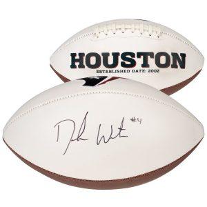 Deshaun Watson Houston Texans Fanatics Authentic Autographed White Panel Football