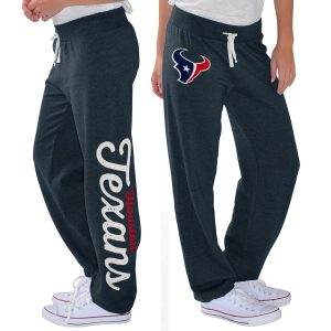 G-III 4Her by Carl Banks Houston Texans Women's Navy Scrimmage Fleece Pants