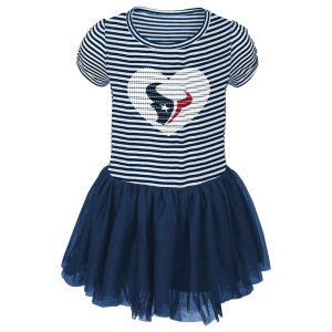 Houston Texans Girls Infant Navy Celebration Tutu Sequins Dress