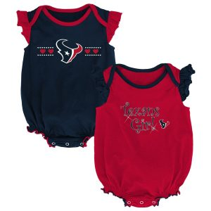 Houston Texans Girls Newborn Navy/Red Homecoming Two-Pack Bodysuit