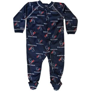 Houston Texans Newborn Full Zip Raglan Coverall