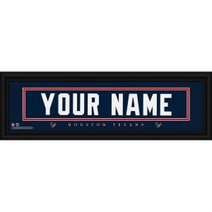 Houston Texans Personalized Name Plate