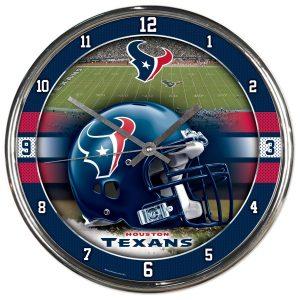 Houston Texans WinCraft Chrome Clock