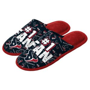 Houston Texans Youth Scuff Slide Slippers