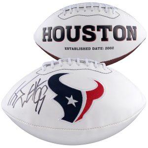 J.J. Watt Houston Texans Fanatics Authentic Autographed White Panel Football