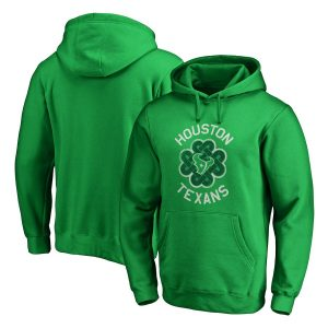 Houston Texans Kelly Green St. Patrick's Day Luck Tradition Pullover Hoodie