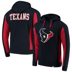 NFL Pro Line by Fanatics Branded Houston Texans Navy Team Iconic Pullover Hoodie