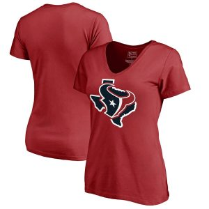 Houston Texans Women's Red Hometown Collection V-Neck T-Shirt