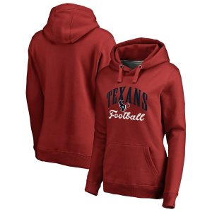 Houston Texans Women's Red Victory Script Pullover Hoodie