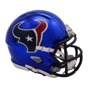 Riddell Houston Texans Chrome Alternate Speed Mini Football Helmet