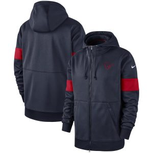 Men's Houston Texans Nike Navy Sideline Performance Full-Zip Hoodie