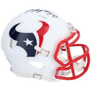 DeAndre Hopkins Houston Texans Autographed Riddell Flat White Alternate Revolution Speed Mini Helmet