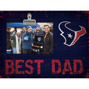 "Houston Texans 8"" x 10.5"" Best Dad Clip Frame"