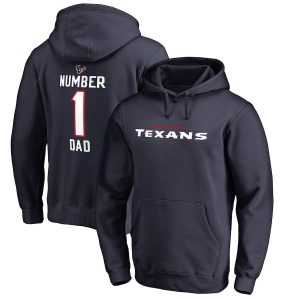 Houston Texans NFL Pro Line Number 1 Dad Pullover Hoodie